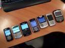 Las últimas Blackberrys que he tenido